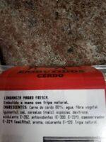 Salchicha fresca - Ingrédients - es