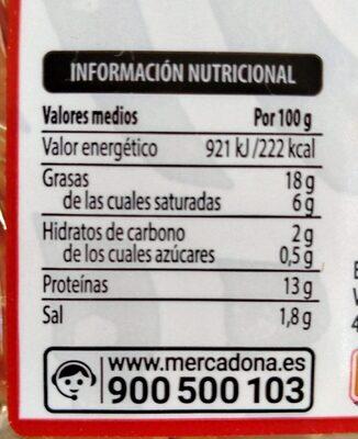 Salchicha fresca - Informations nutritionnelles - es