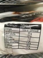 Roue de brie - Informations nutritionnelles