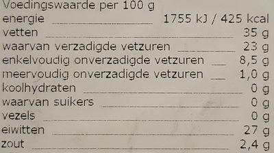 Zaanlander 48+ - Nutrition facts - nl