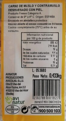 Pollo - Nutrition facts