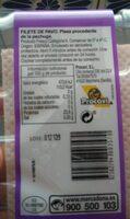 Filete de pechuga de peppa - Informació nutricional