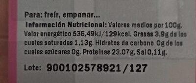 Filetes de magro jamón - Nutrition facts - es