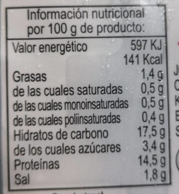 PECHUGA POLLO EMPANADA MARINADA - Nutrition facts