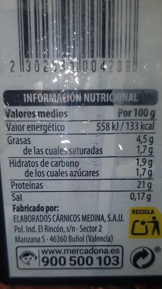 Filetes higado añojo - Nutrition facts