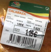 Calabaza - Ingrédients - es