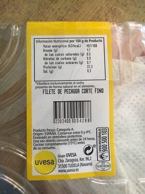 Filete de pechuga - Ingredientes - es