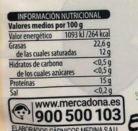 Costilla Añojo - Nutrition facts