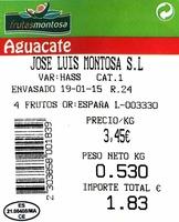 "Aguacates ""Frutas Montosa"" - Ingrédients"