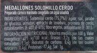 Medallones de Solomillo Marinado - Información nutricional - es