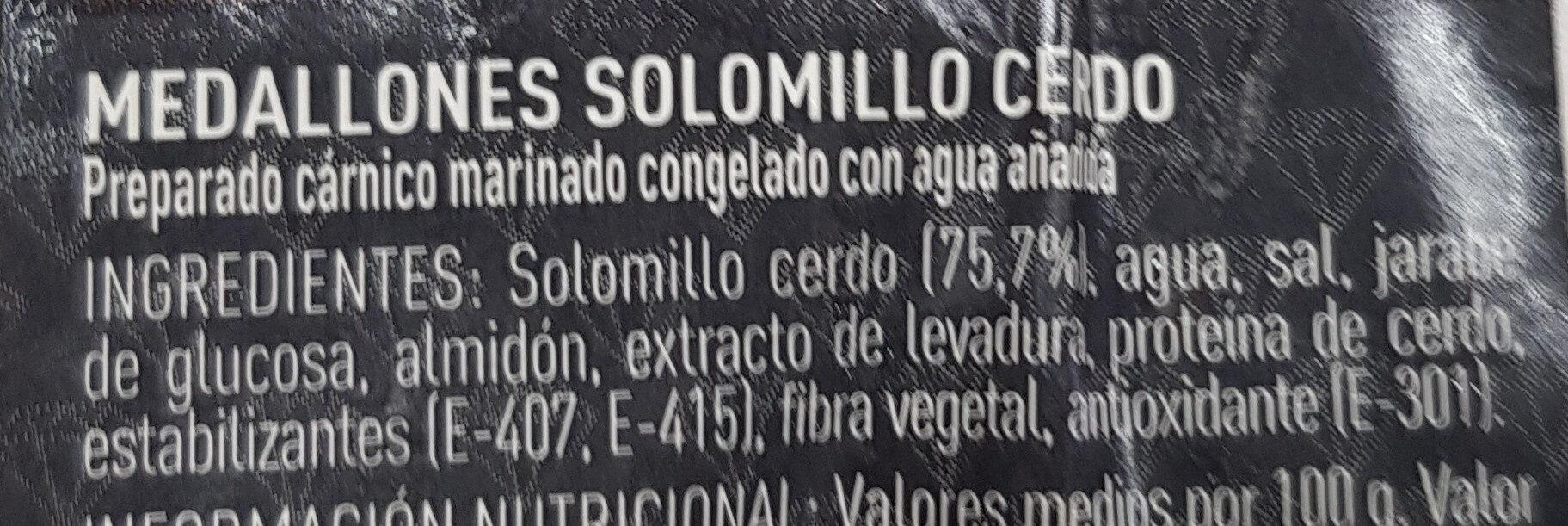 Medallones solomillo marinado - Ingredients - es