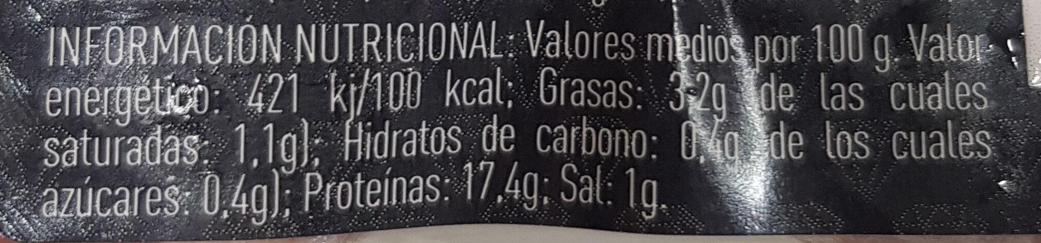 Medallones solomillo marinado - Informació nutricional - es