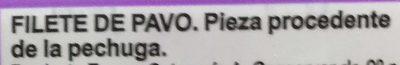 Filetes de pechuga de pavo - Ingredients