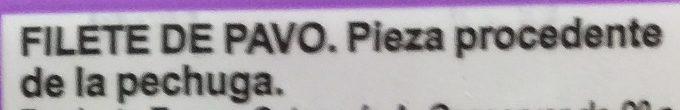 Filetes de pechuga de pavo - Ingredientes