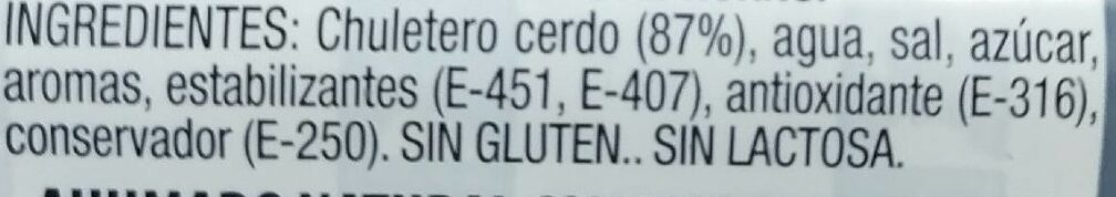 Chuletas de sajonia - Ingredientes