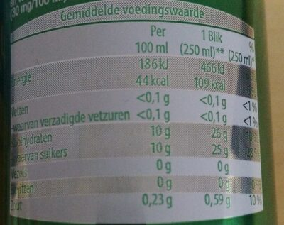 Golden Power Energie Drink - Valori nutrizionali - nl