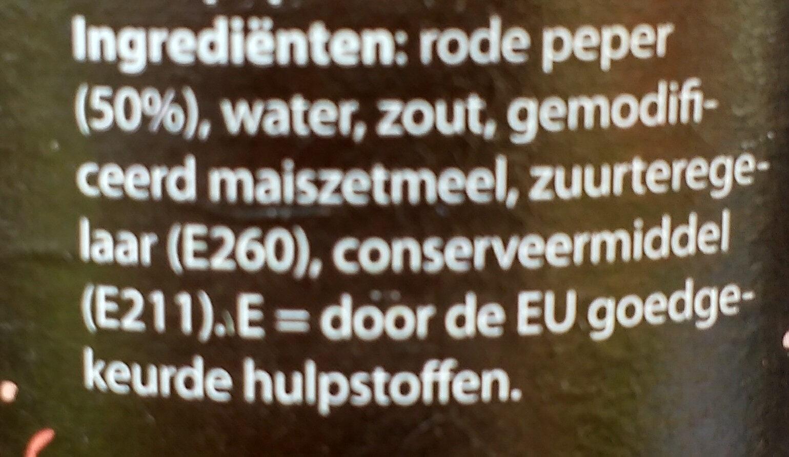 Sambal Oelek - Ingrediënten - nl