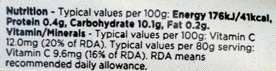 Pineapple - Nutrition facts - en