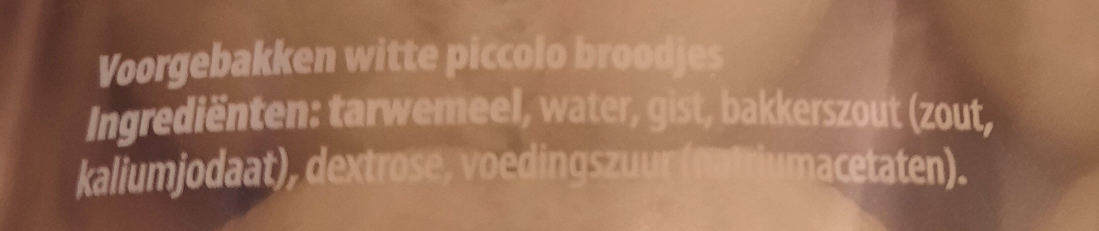 piccolo wit - Ingredients - nl