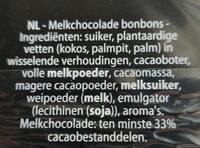 Truffels melkchocolade - Ingrediënten - nl