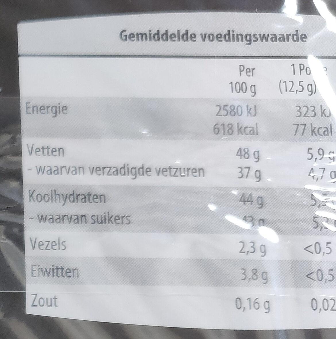 Truffels melkchocolade - Voedingswaarden - nl