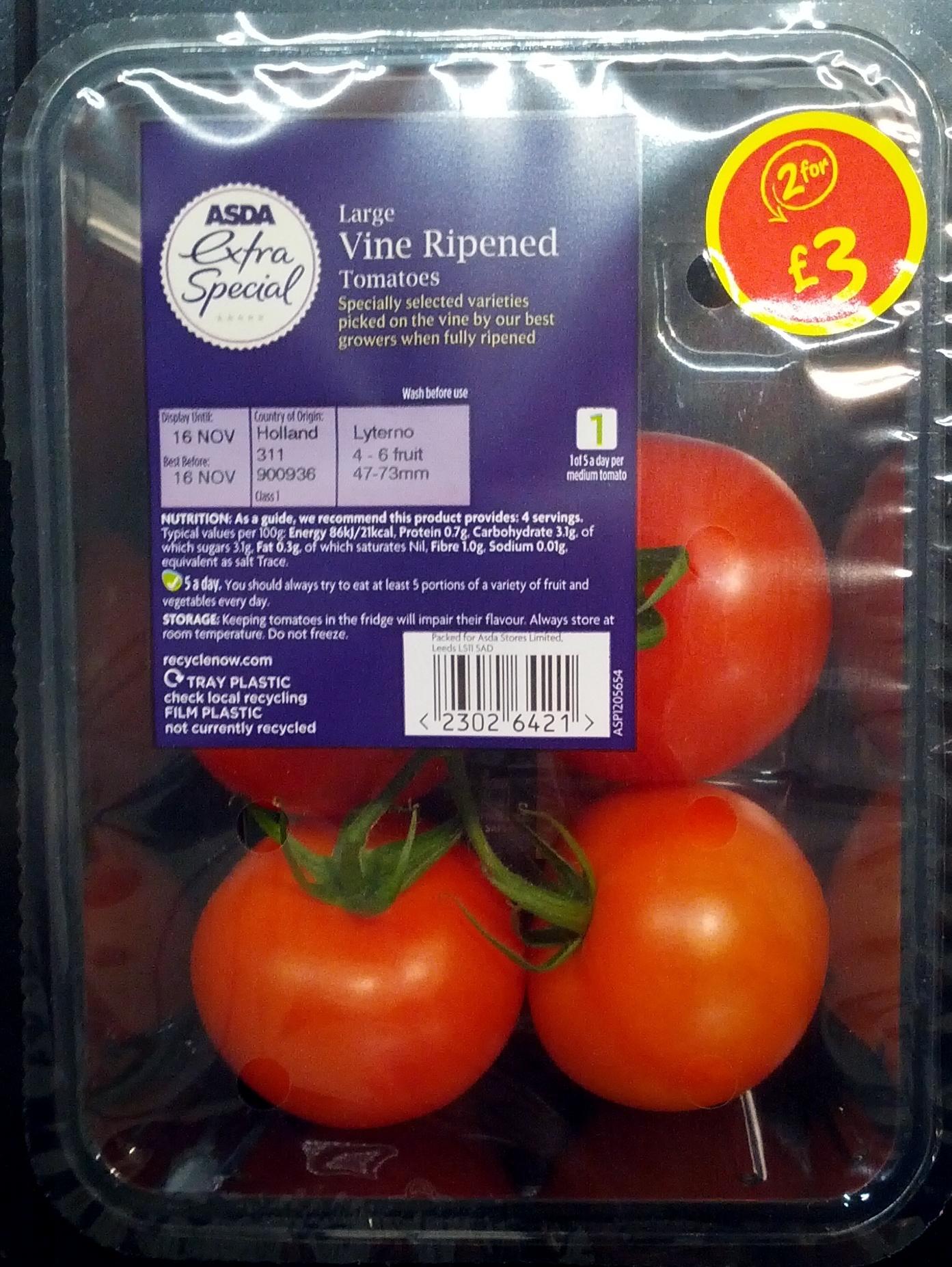 Large Vine Ripened Tomatoes - Produit