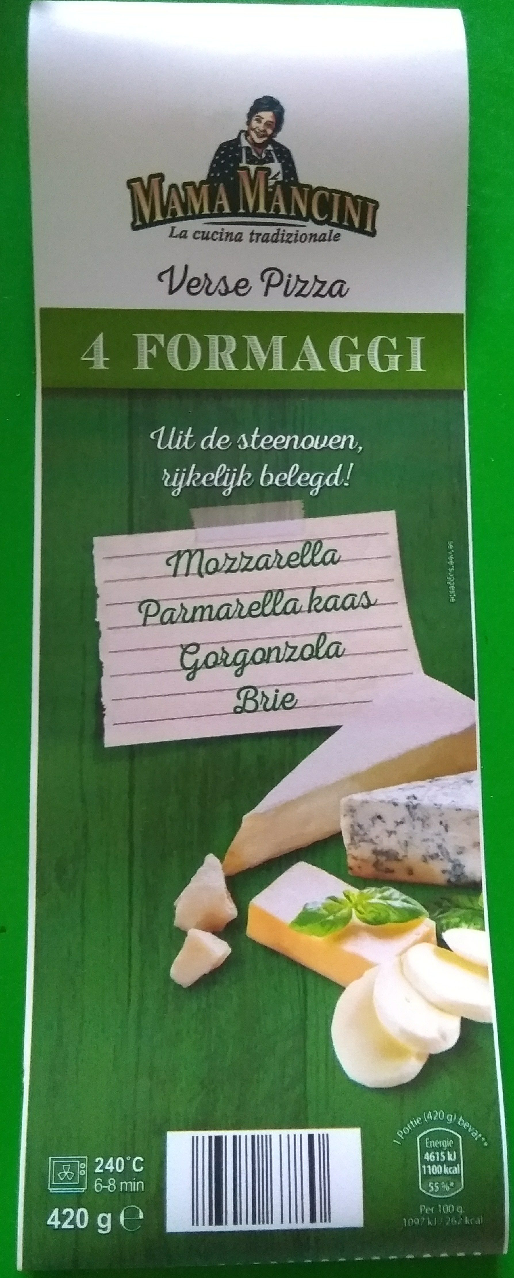 Verse Pizza 4 Formaggi - Product - nl