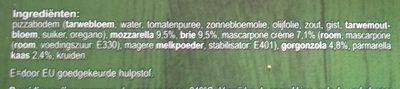 Verse Pizza 4 Formaggi - Ingrediënten - nl