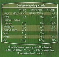 Verse Pizza 4 Formaggi - Voedingswaarden - nl