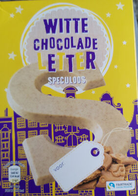 Witte chocoladeletter speculoos - Product - nl