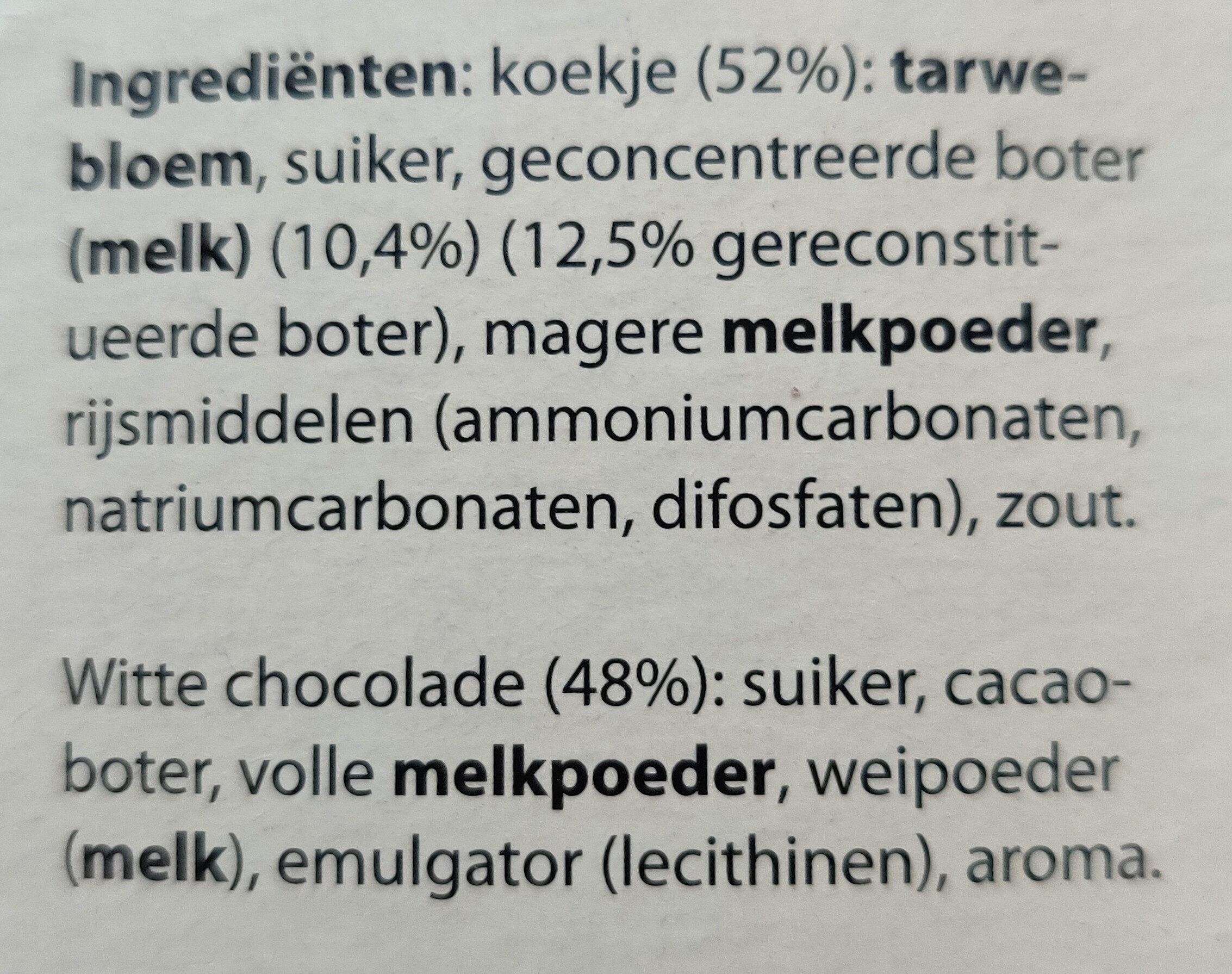 Chocolade koekjes boterkoekje met witte chocolade - Ingrediënten - nl
