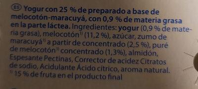 Milsani jogging morango - Ingrediënten
