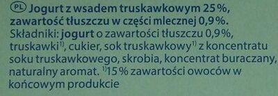 Milsani jogging morango - Składniki - pl