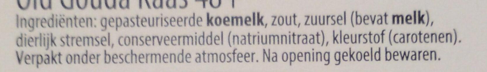 Old Gouda Extra Oud 48+ - Ingrediënten - nl