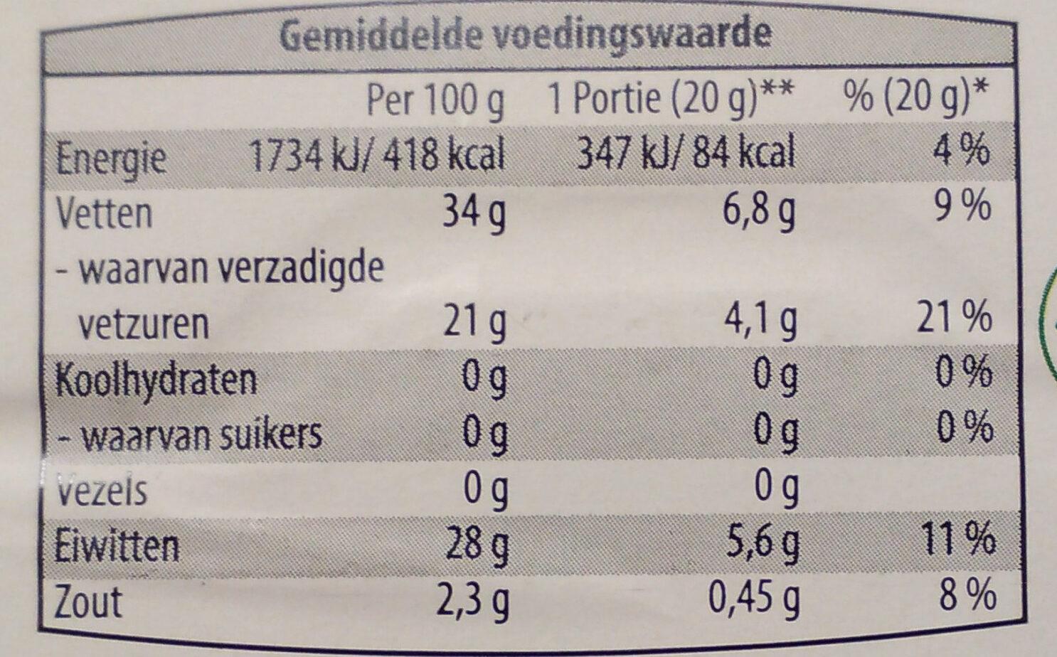 Old Gouda Extra Oud 48+ - Voedingswaarden - nl