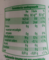 Home sweet home Stevia - Nutrition facts - nl