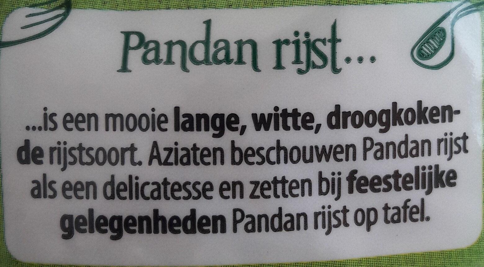 Geurige Pandan Rijst - Ingredients - nl