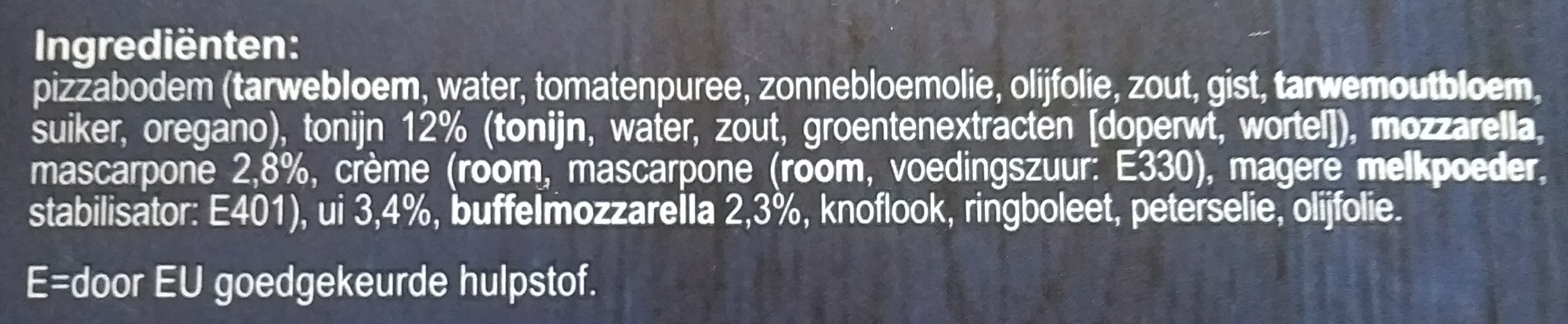 Verse Pizza Tonno - Ingrediënten - nl