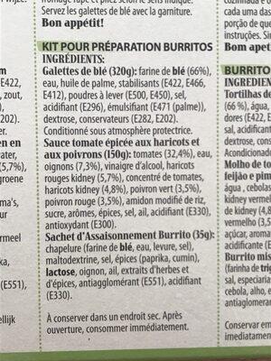 Fajita dinner kit - Ingrédients - fr