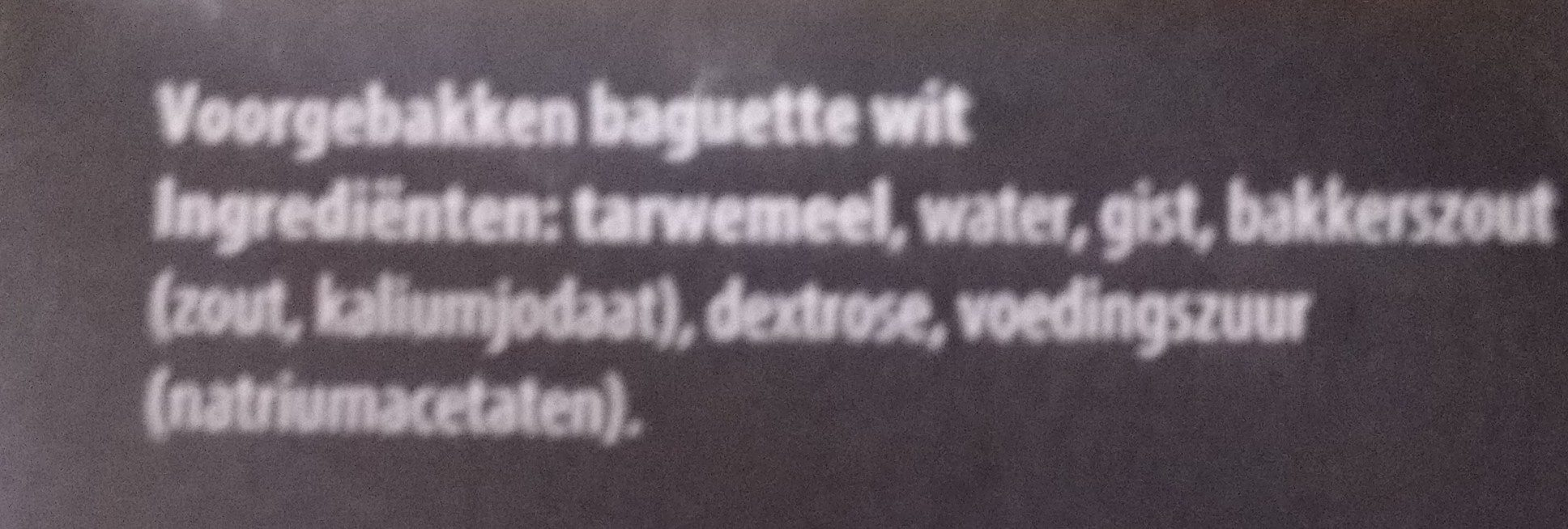 Baguettes Wit - Ingredients - nl