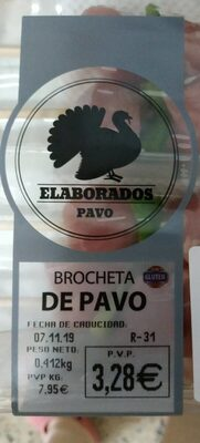 Brocheta de pavo - Product