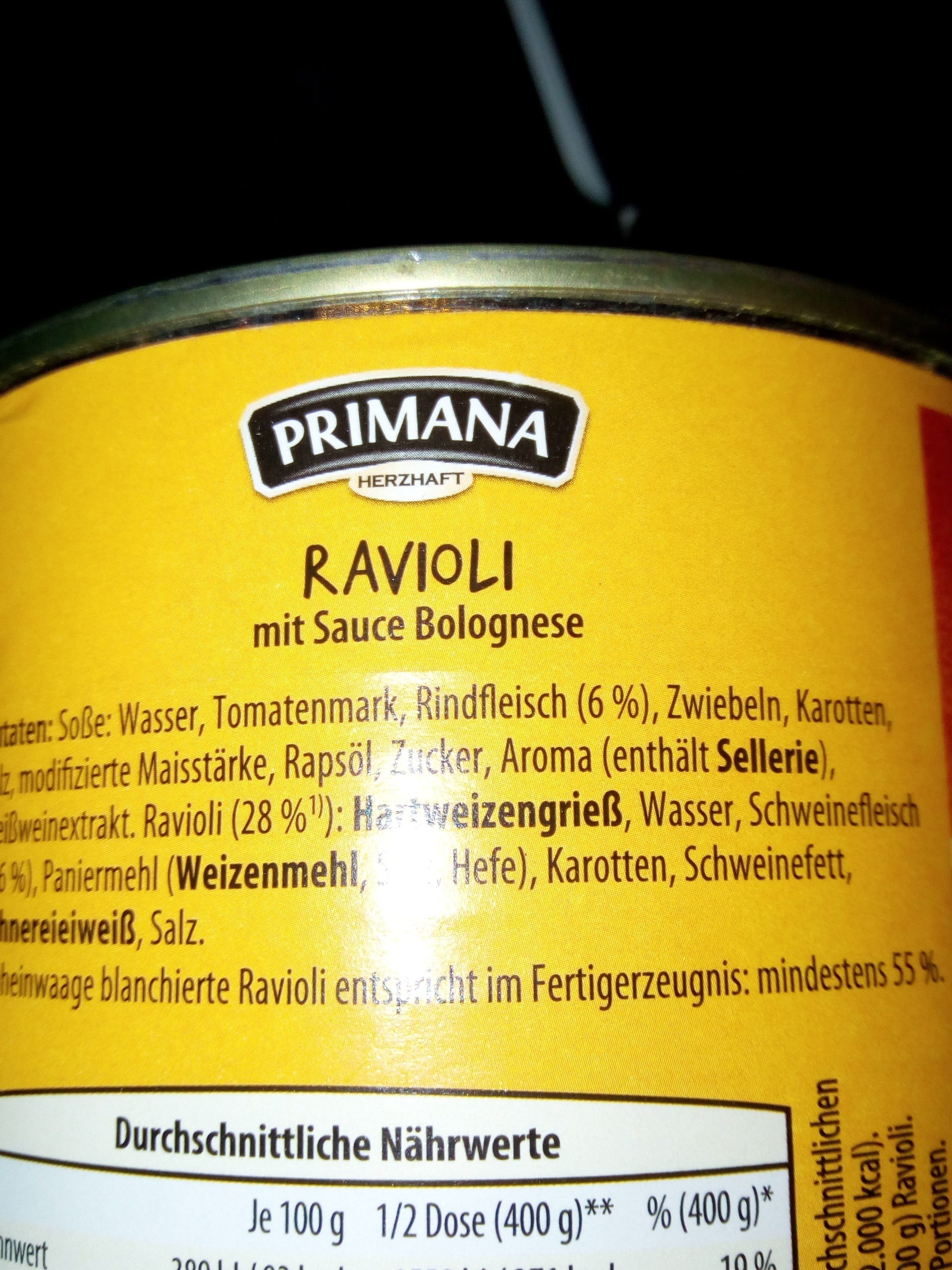 Ravioli Mit Sauce Bolognese - Ingrédients - de