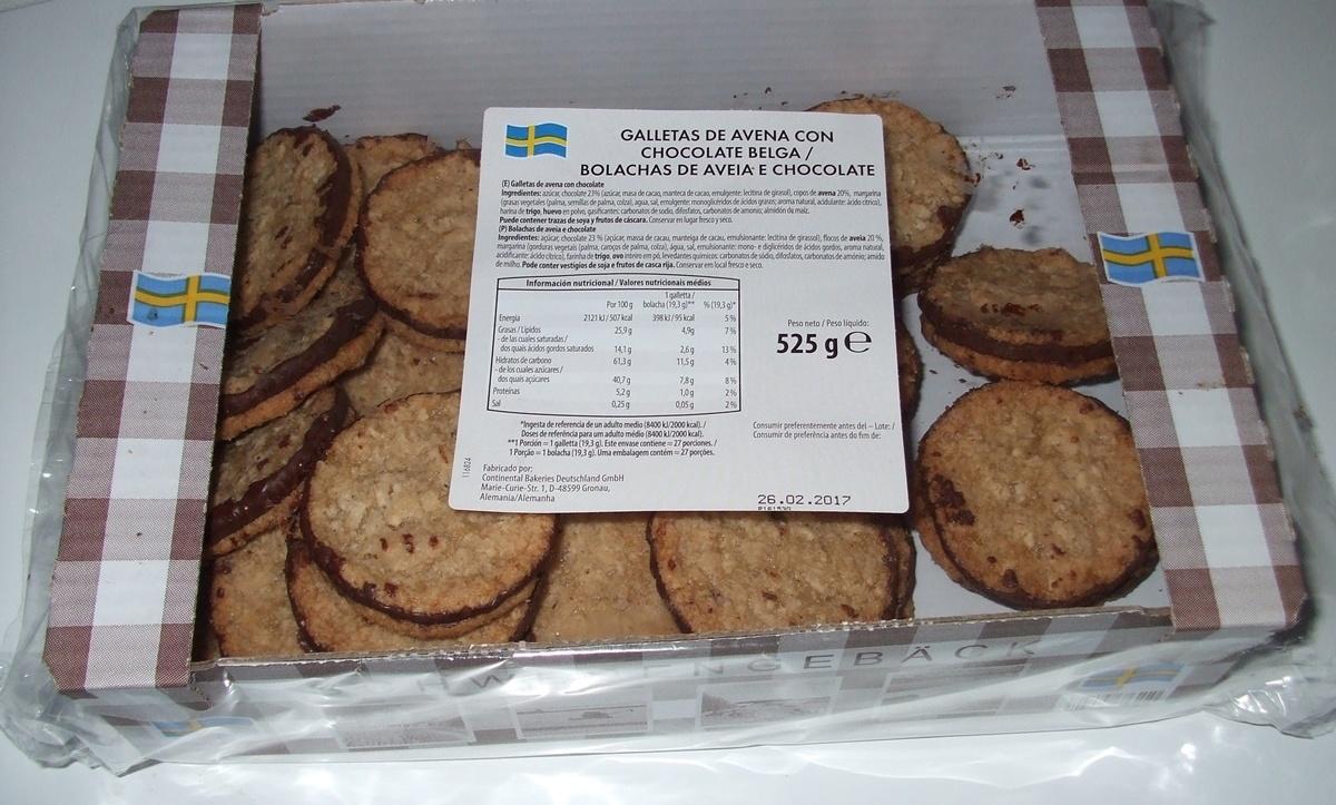Bolachas de Aveia e Chocolate (Pastelaria Sueca) - Product - pt