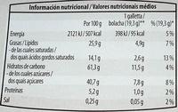 Bolachas de Aveia e Chocolate (Pastelaria Sueca) - Nutrition facts - pt