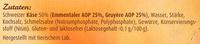 Schweizer Käse-Fondue ohne Alkohol - Inhaltsstoffe