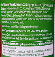 Böklunder Wiener Würstchen - Ingredients - de