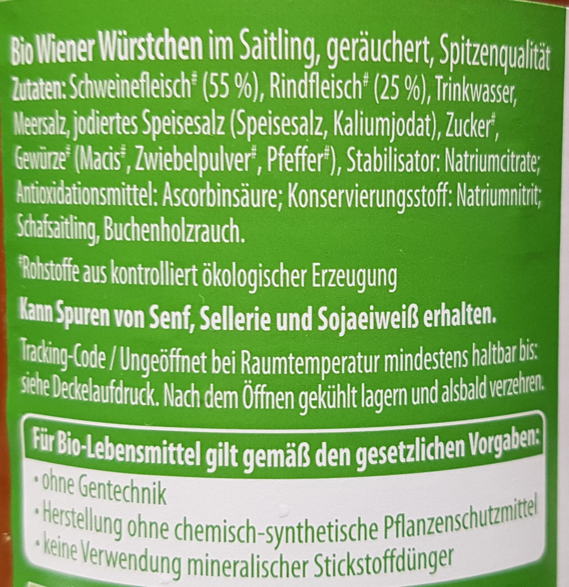 Böklunder Wiener Würstchen - Ingrédients - fr