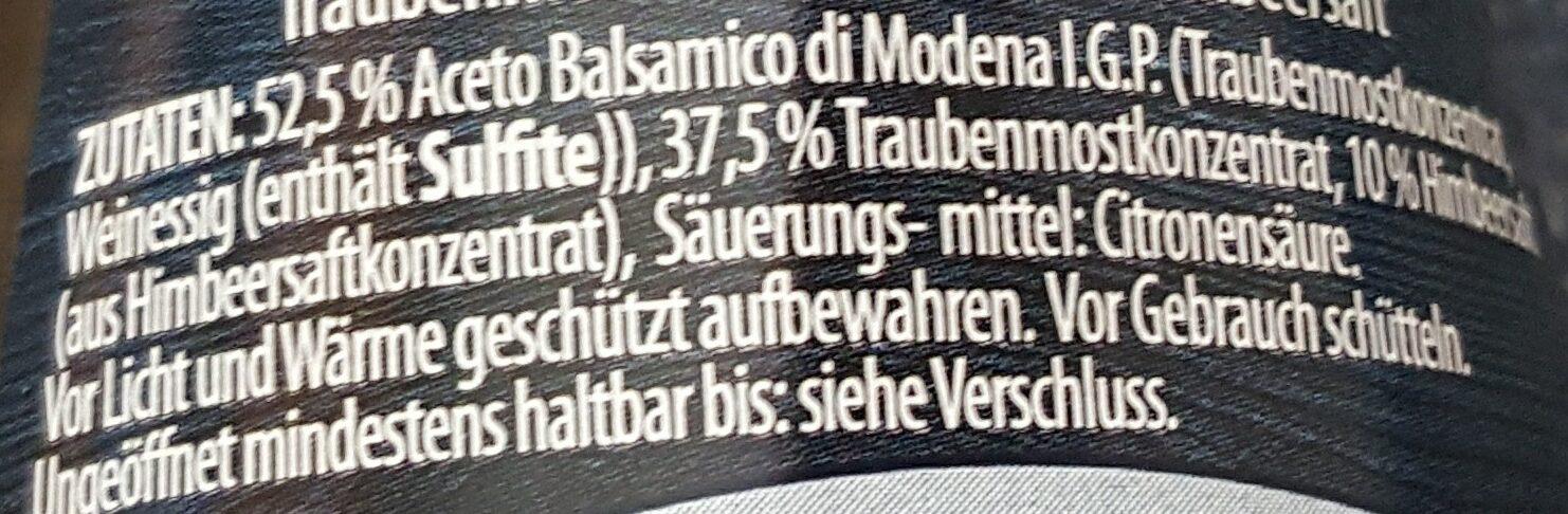 Balsamfrutta Himbeer - Ingrediënten