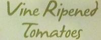 Vine Ripened Tomatoes - Ingredients
