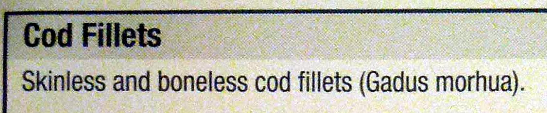 Cod Fillets - Ingrédients